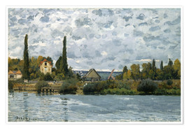Premium poster  The Seine at Bougival - Alfred Sisley