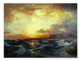Premium poster Sunset over the Pacific, 1907