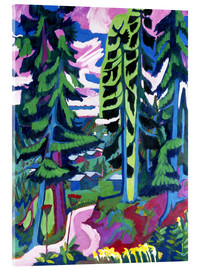 Acrylic print  Wildboden, mountain forest - Ernst Ludwig Kirchner