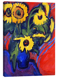 Canvas print  Sunflowers - Ernst Ludwig Kirchner