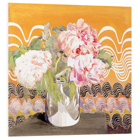 Foam board print  Peonies - Charles Rennie Mackintosh