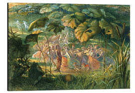 Aluminium print  Fairy Dance in a Clearing - Richard Doyle