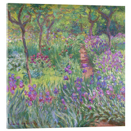 Acrylic print  The Iris Garden At Giverny - Claude Monet