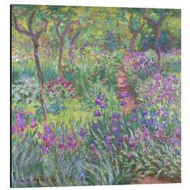 Aluminium print  The Iris Garden At Giverny - Claude Monet