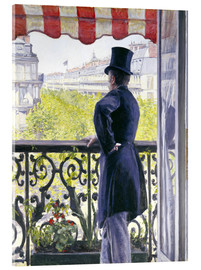 Acrylic glass  Man on a balcony - Gustave Caillebotte