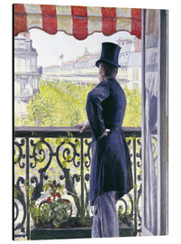 Aluminium print  Man on a balcony - Gustave Caillebotte