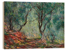 Wood print  Olive Trees in the Moreno Garden - Claude Monet