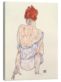 Canvas print  Female back - Egon Schiele