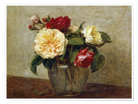 Premium poster  Red and Yellow Roses - Henri de Fantin-Latour