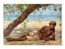 Premium poster  Samuel under a Tree - Henry Scott Tuke