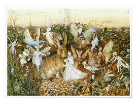 Premium poster  Fairies in the dusk - John Anster Fitzgerald