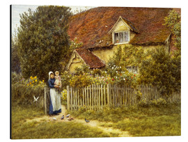 Aluminium print  Mother and child on lodge - Helen Allingham