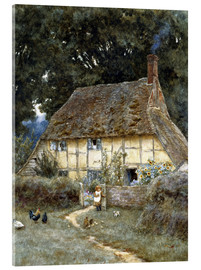 Acrylic glass  On the Brook Road, near Witley - Helen Allingham