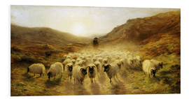 Foam board print  Leaving the Hills - Joseph Farquharson