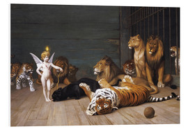 Foam board print  Whoever you are, Here is your Master - Jean Leon Gerome