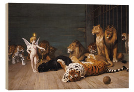 Wood print  Whoever you are, Here is your Master - Jean Leon Gerome