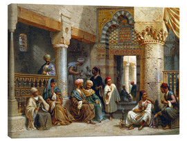Canvas print  Arabic Figures in a Coffee House - Carl Friedrich Heinrich Werner