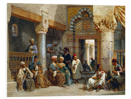 Foam board print  Arabic Figures in a Coffee House - Carl Friedrich Heinrich Werner