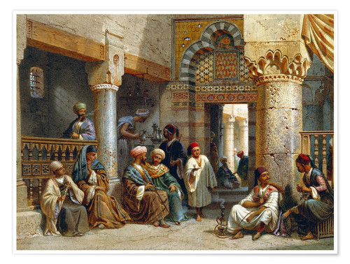 Premium poster Arabic Figures in a Coffee House