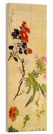 Wood print  Flowers, 1892 - Ni Tian