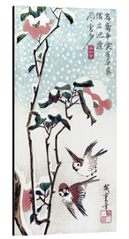 Aluminium print  Snow, Moon and Flowers - Utagawa Hiroshige