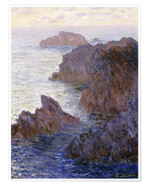 Premium poster  Point de Rochers, Port-Goulphar - Claude Monet