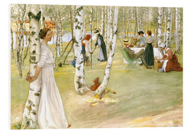 Foam board print  Breakfast in the Open - Carl Larsson