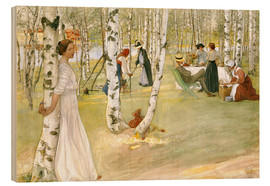 Wood print  Breakfast in the Open - Carl Larsson