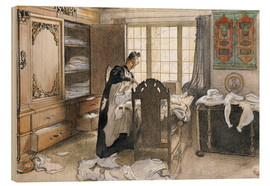 Wood print  Karin by the Linen Cupboard, 1906 - Carl Larsson