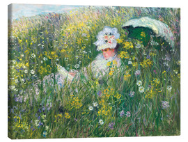 Canvas print  In the Meadow - Claude Monet