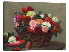 Canvas print  Basket of dahlias, 1893 - Henri de Fantin-Latour