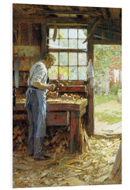 Foam board print  Village Carpenter - Edward Henry Potthast