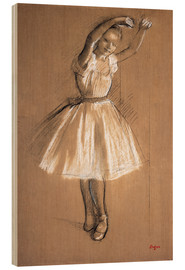 Wood print  Small dancer - Edgar Degas