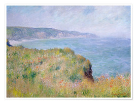 Premium poster  Edge of the Cliff, Pourville - Claude Monet