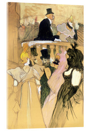 Acrylic glass  At the Opera Ball - Henri de Toulouse-Lautrec