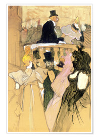 Premium poster  At the Opera Ball - Henri de Toulouse-Lautrec