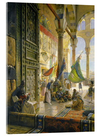 Acrylic print  Forecourt of the Ummayad Mosque, Damascus, 1890 - Gustave Bauernfeind