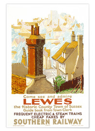 Premium poster  Come see and admire Lewes - Gregory Brown