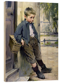 Wood print  Out of the Game - Henri Jules Jean Geoffroy