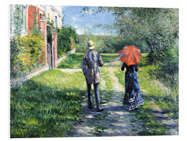 Foam board print  The Path Uphill - Gustave Caillebotte