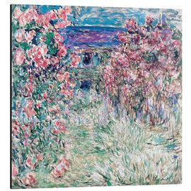 Aluminium print  The Garden at Giverny - Claude Monet
