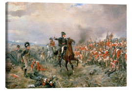 Canvas print  The Duke of Wellington at Waterloo - Robert Alexander Hillingford