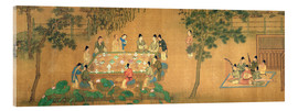 Acrylic print  Meeting of the scientists in the bamboo garden - Chinese School