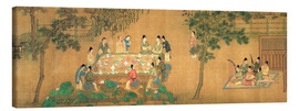 Canvas print  Meeting of the scientists in the bamboo garden - Chinese School