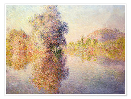 Premium poster  Early Morning on the Seine at Giverny - Claude Monet