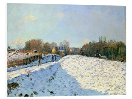 Foam board print  Snow at Argenteuil - Alfred Sisley