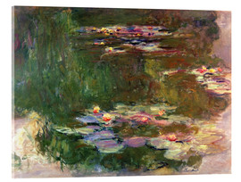 Acrylic print  The lily pond - Claude Monet