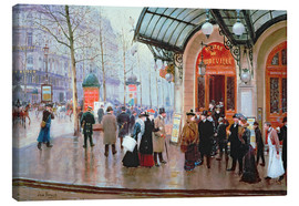 Canvas print  Before Vaudeville Theatre in Paris - Jean Beraud