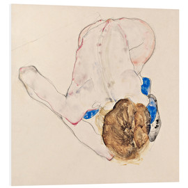 Foam board print  Nude with blue stockings - Egon Schiele