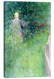 Canvas print  In the Hawthorn Hedge - Carl Larsson